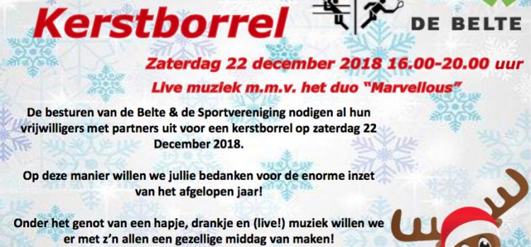 Kerstborrel SSC & SV Nieuw Heeten